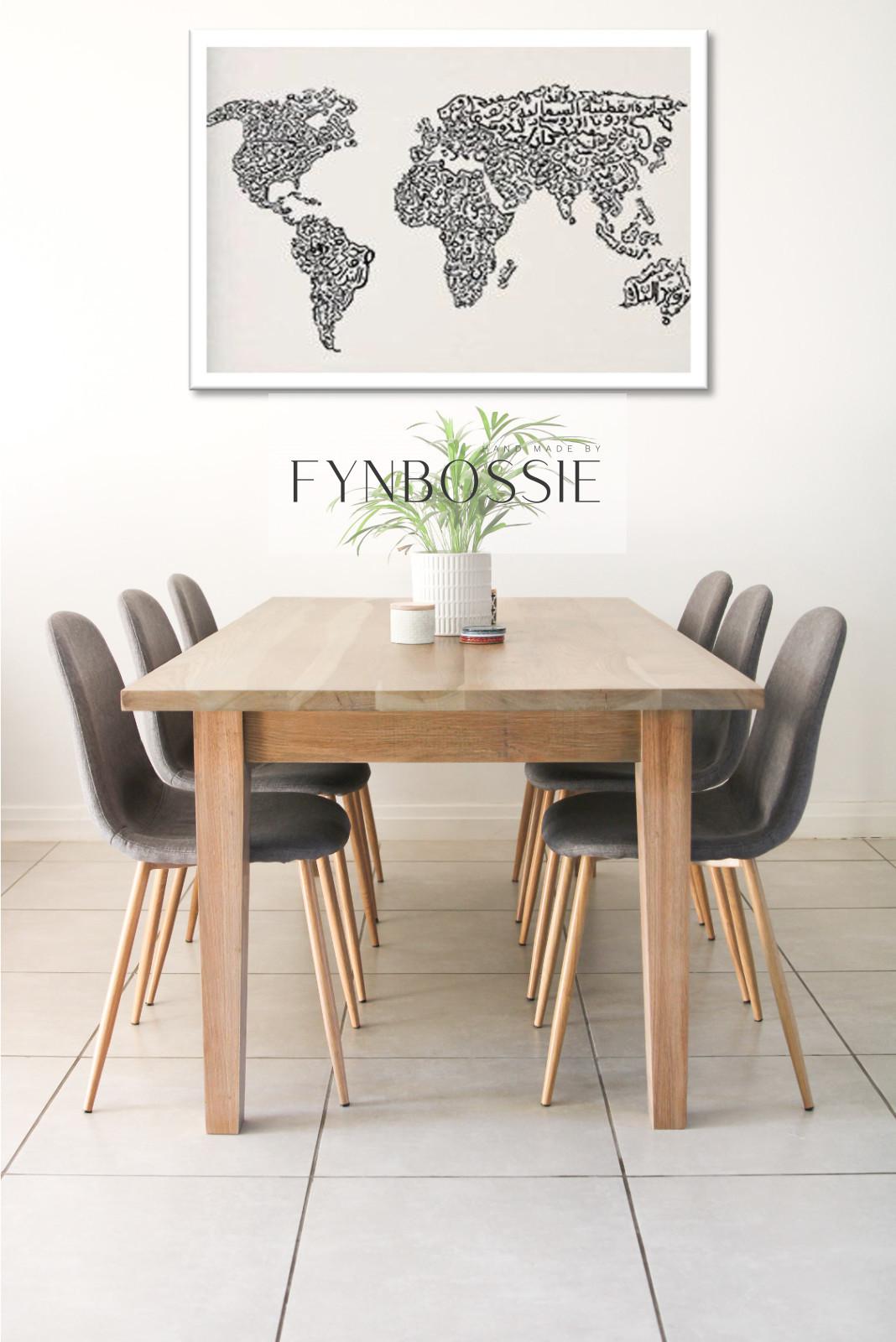 Euro oak dining table