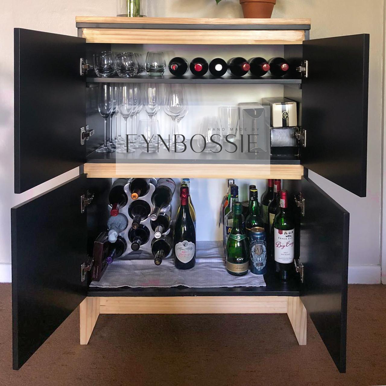 Scandi drinks cabinet