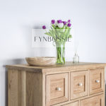 Oak French style chest of drawers